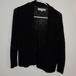Loft XS Black Mid-Weight Open Cardigan Cotton